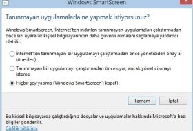 Windows Smartscreen Kapatma